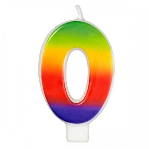 Wilton Kerze Rainbow - 0