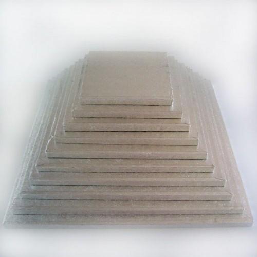FunCakes podložka pod tortu strieborná 50,5cm / 1cm štvorec