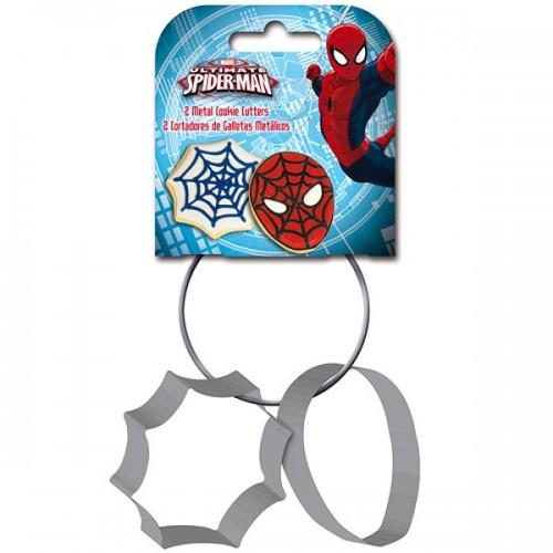 Stor kovová vykrajovadlá Spiderman - 2ks