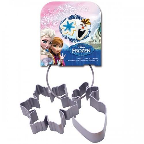 Stor kovová vykrajovadlá Frozen - 2ks