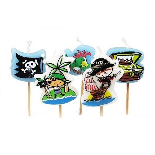 Torten Kerze - Piraten - 5 Stück