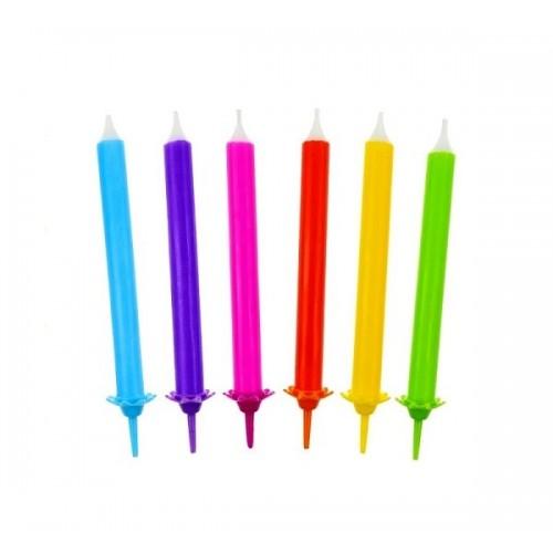 """Tortová sviečka - """"Pastelky"""" - 12ks"""