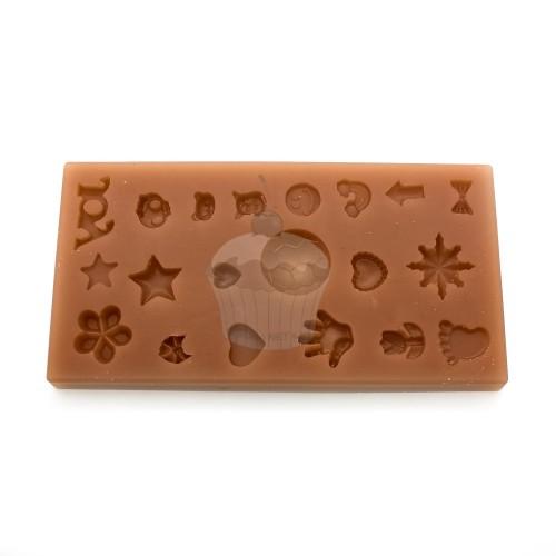 Silikónová forma - malé dekorácie MIX