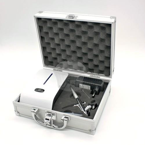 Airbrush sada s kufríkom - bielo / čierny  25PSI