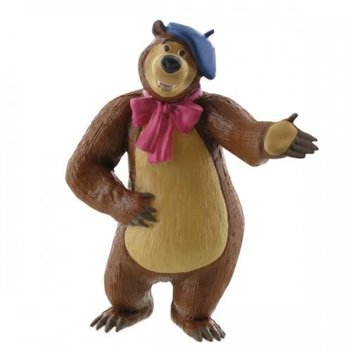 Dekorační figurka - Máša a Medvěd - Medvěd malíř