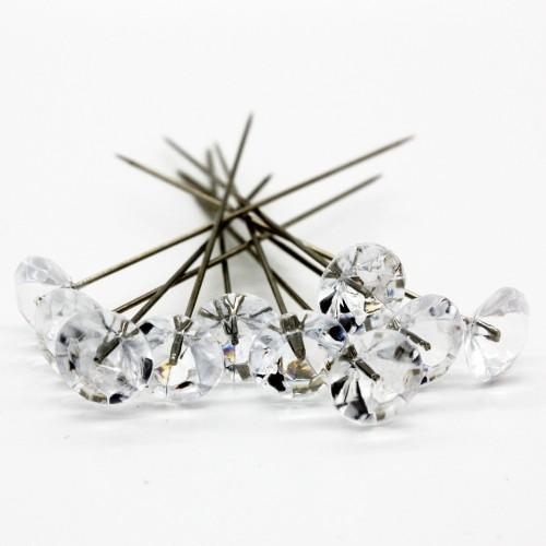 Dekorační špendlík - diamant - 50mm/10ks