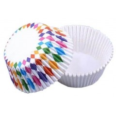 Baking Cups Colored diamond - 50pcs