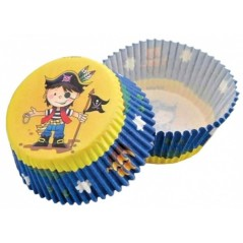 Cukrárske košíčky - žluto-modrý  pirát  - 50ks