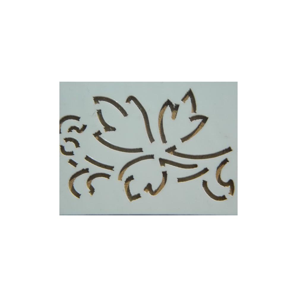 Stencil na dekoraci piškotových pruhů -  vinná réva