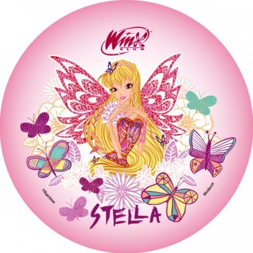 Jedlý papier karta guľatý -  Winx - Stella