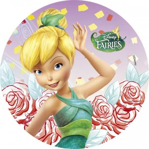Jedlý papier karta guľatý -  Fairies - Zvonilka