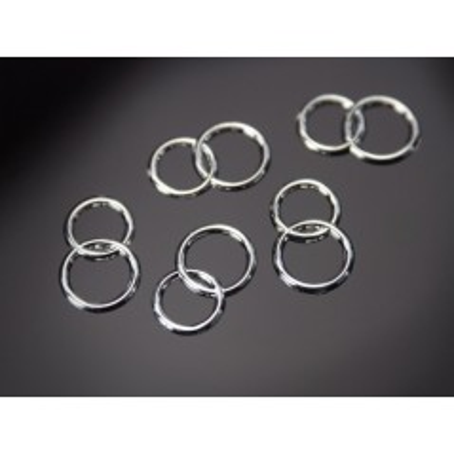Nicht essbar Dekoration - Doppel-Silber-Ringe - 25 Stück