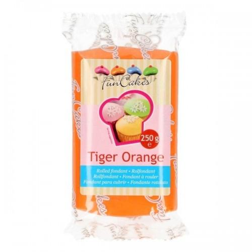 FunCakes potahový fondán Tiger Orange - oranžový - 250g