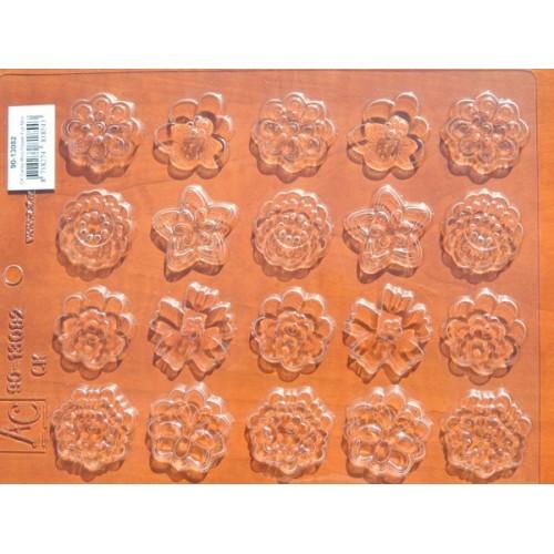 Forma na čokoládové ozdoby - kytičky