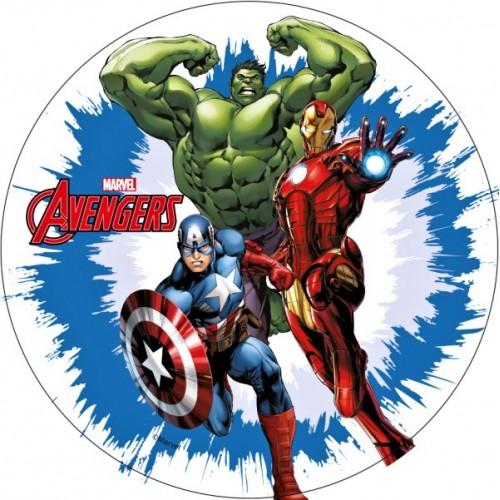 Jedlý papier karta guľatý - Avengers 3