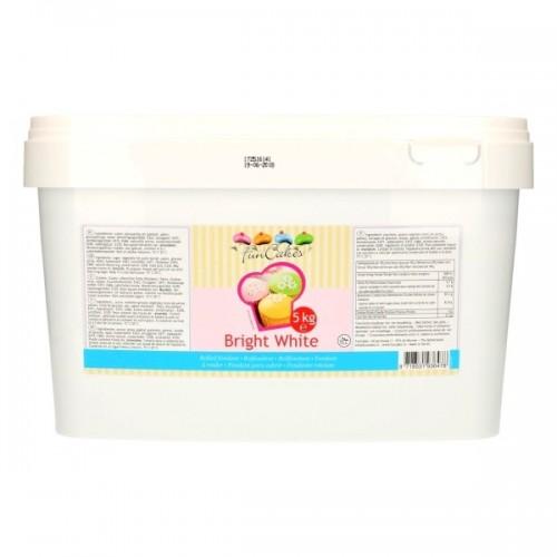 FunCakes Fondant - Bright White - 5kg pail