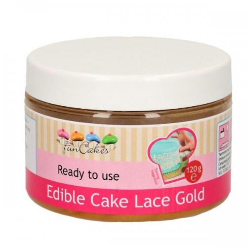 FunCakes Cake Lace - jedlá krajka hotová - zlatá 120g