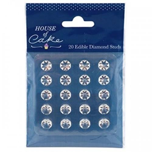 House of Cake - Průzračné jedlé želé diamanty 10mm