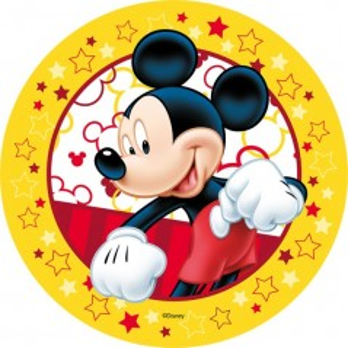 Essbare Papier Round - Mickey Mouse - gelb