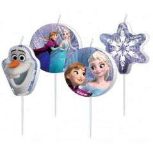 Dortová svíčka mini -  Frozen - 4ks