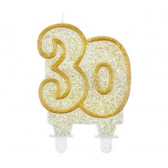 Cake Candle Jubilee gold - 30th