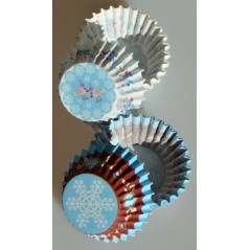 Baking Cups MINI - blau Weihnachten - 50pcs