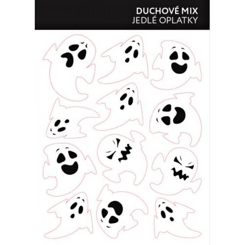 Jedlý papier karta - duchovia mix 12ks