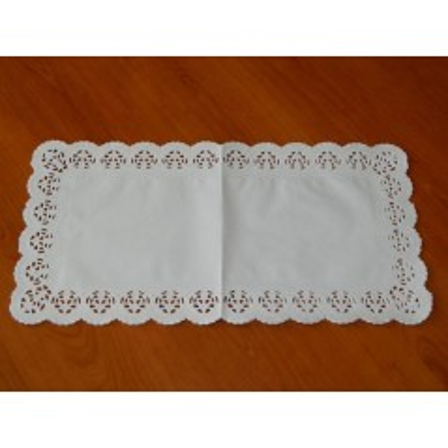 Papierové čipky pod tortu - obdĺžnik 25 x 38cm /10ks