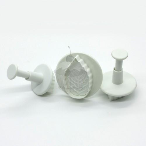 Rose Leaf plunger cutter - 3pcs