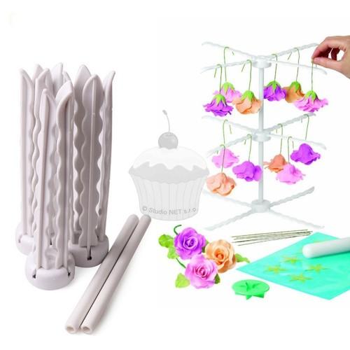 Skladací stojanček na sušenie kvetov