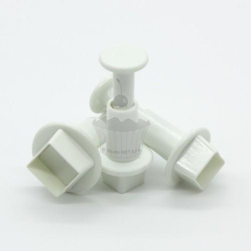 Vypichovače mini štvorčeky - 3 ks
