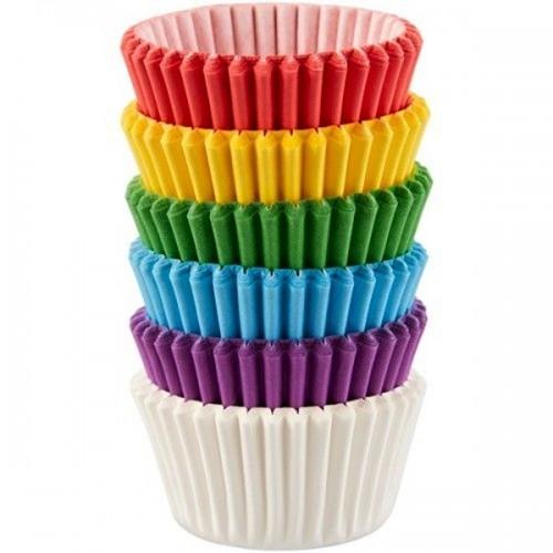 Wilton mini cups rainbow - mini cukrářské košíčky - mix barev 150ks