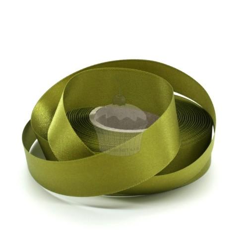 Atlasová stuha - olivová 20m / 24mm