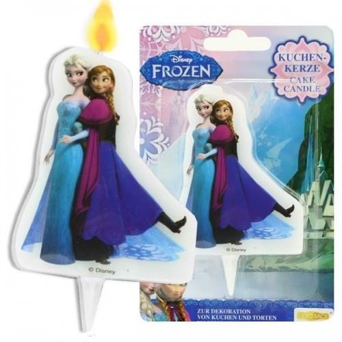 Dortová svíčka - Frozen - Elsa + Anna - 1ks