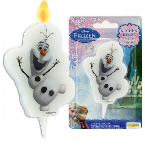 Tortová sviečka - Frozen - Olaf  - 1ks