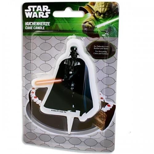Dortová svíčka - Star Wars - Darth Vader - 1ks