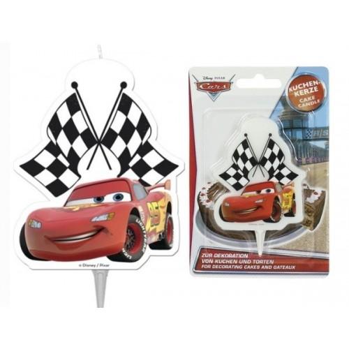 Tortová sviečka -  Disney Cars - 1ks
