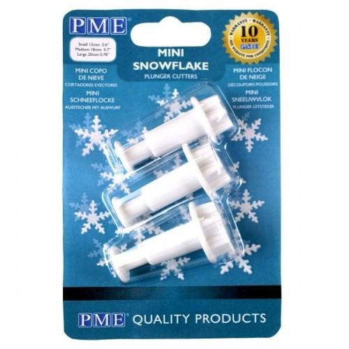 PME mini Schneeflocke - 3er Set Ausstecher mit Prägung