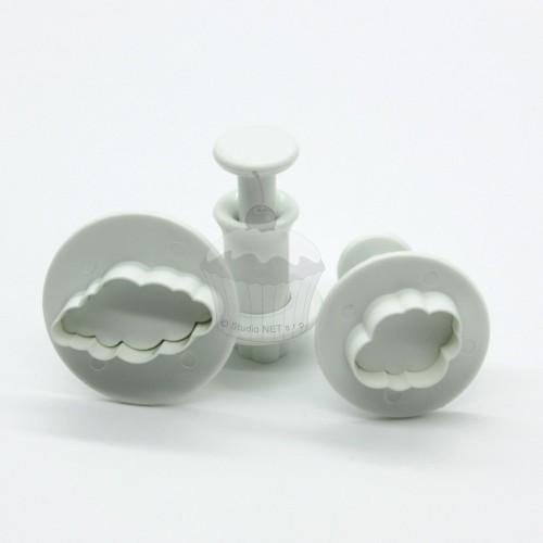 Mini Plungers Wolken set/3
