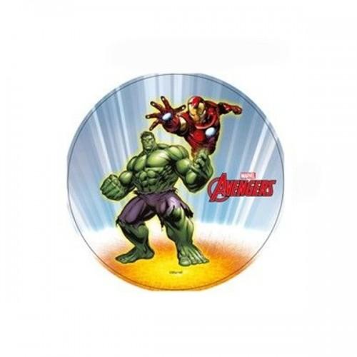Essbare Papier Round  - Marvel - Halk + Iron Man