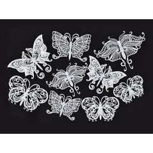 Silikonová šablona na jedlou krajku - Motýlci 18