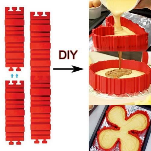Variabilné silikónové pásiky - forma na pečenie 4ks