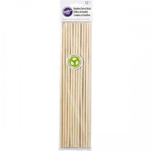 Wilton  Dübelstangen Bamboo 30cm / 12pk