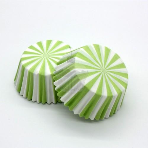 Cukrárske košíčky - zelené paprsky 50ks