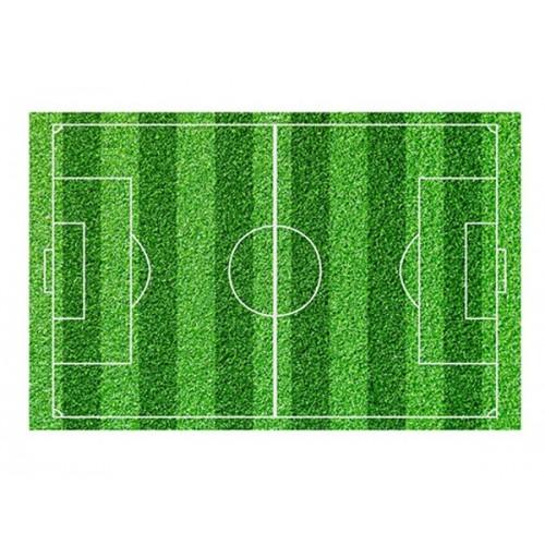 Jedlý papier karta obdĺžnik - futbalové ihrisko - 1ks