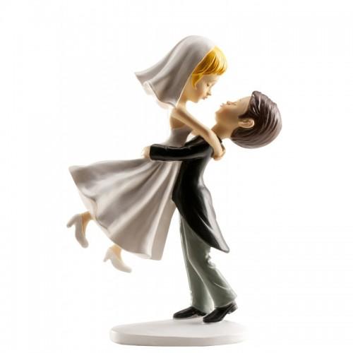 Svatební figurky - skok