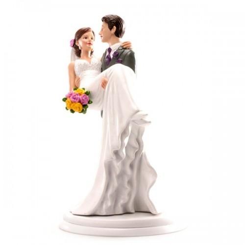 Svatební figurky - žena  v náručí
