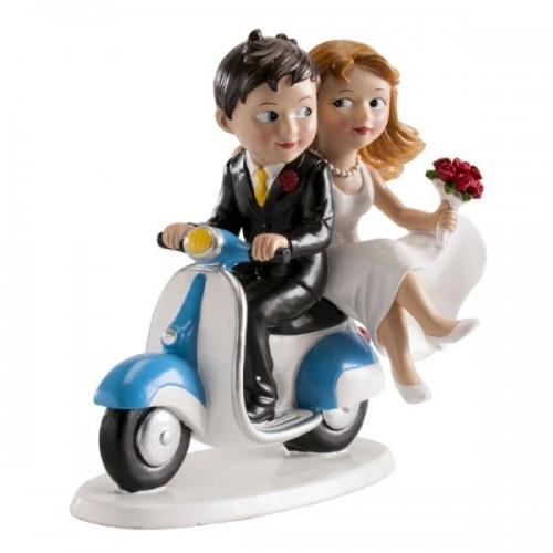 Svatební figurky - na skútru
