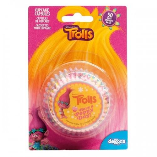 Dekora  cukrářské košíčky - Trolls - 50ks
