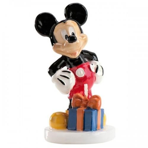 Dekora Dortová svíčka - Mickey s dárkem - 1ks